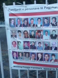 Kosovo missing people poster 2017