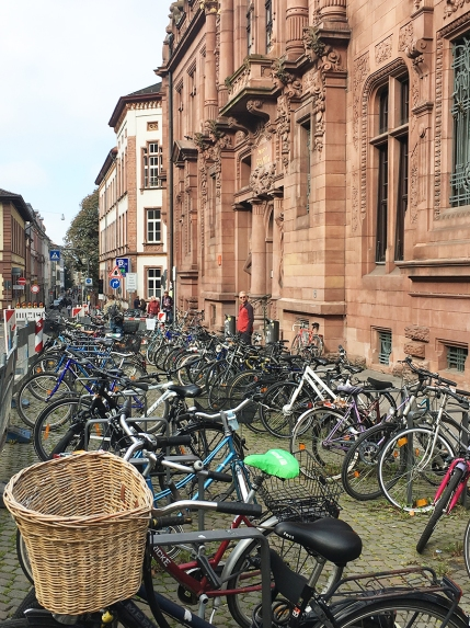 University of Heidelberg bike stands